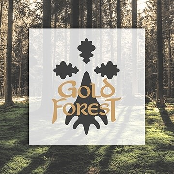 logo design graphic Gold Forest