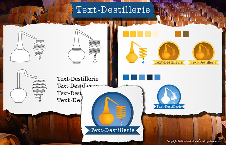 logo design Text-Destillerie