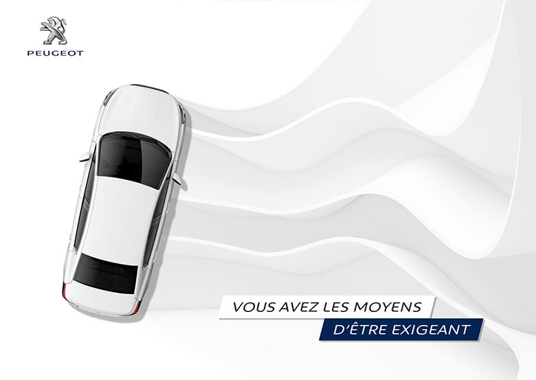 Print Design art direction Peugeot Mailing