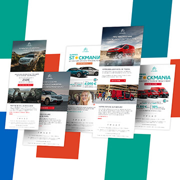 Web design newsletter Citroën Motion